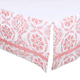 The Peanutshell ™ Medallion Crib Skirt in Coral