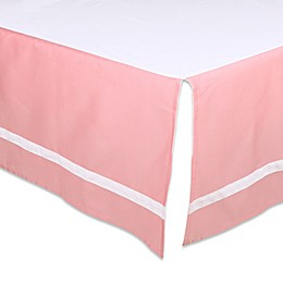 The Peanut Shell™ Solid Crib Skirt in Coral