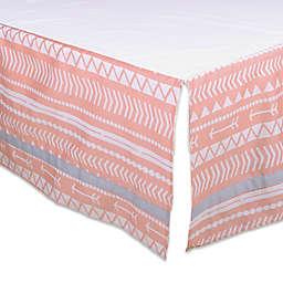 The Peanutshell™ Tribal Crib Skirt in Coral/Grey