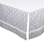 The Peanut Shell® Arrow Crib Skirt in Grey