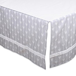 The Peanutshell™ Arrow Crib Skirt in Grey