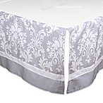 The Peanut Shell® Damask Crib Skirt in Grey