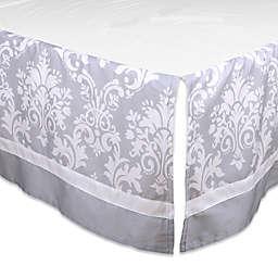 The Peanutshell ™ Damask Crib Skirt in Grey