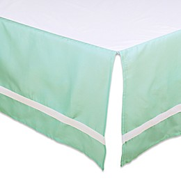 The Peanut Shell™ Solid Crib Skirt in Mint