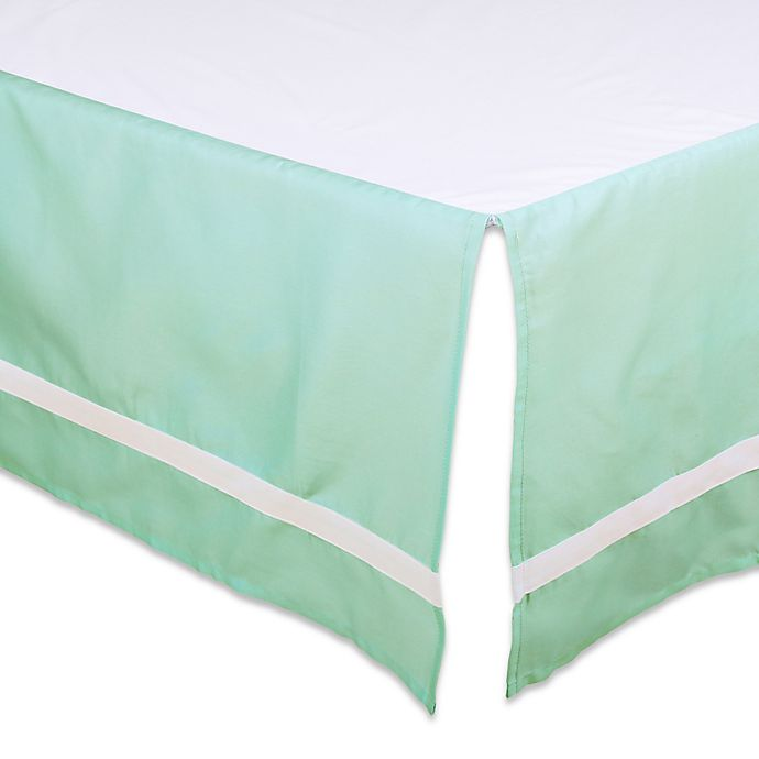 Alternate image 1 for The Peanut Shell™ Solid Crib Skirt in Mint