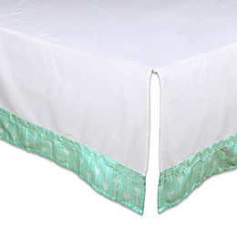 The Peanut Shell® Arrow Crib Skirt in Mint