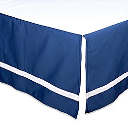 The Peanutshell™  Solid Crib Skirt in Navy