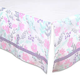 The Peanutshell™ Floral Crib Skirt in Pink