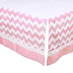 The Peanutshell™  Chevron Crib Skirt in Pink