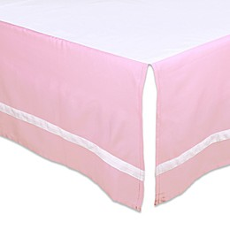 The Peanut Shell® Solid Crib Skirt in Pink