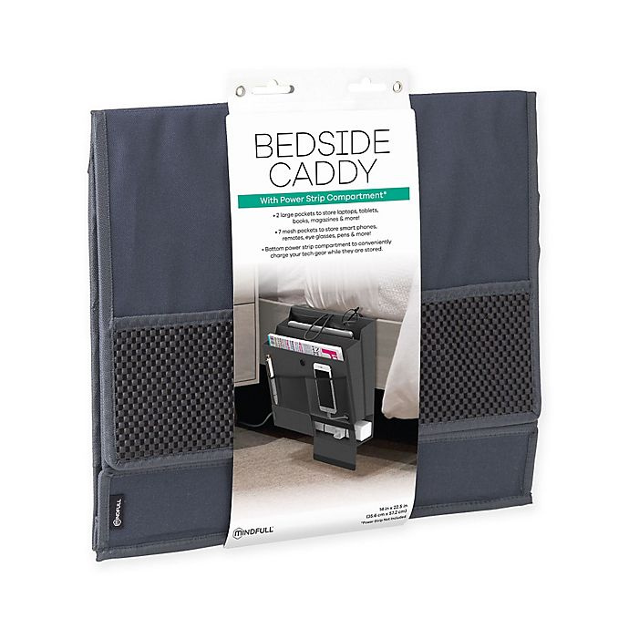 Alternate image 1 for Mindfull Products Bedside Caddy in Grey