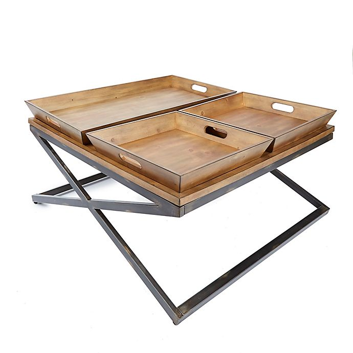 Silverwood Calhoun Industrial Collection Coffee Table in ...