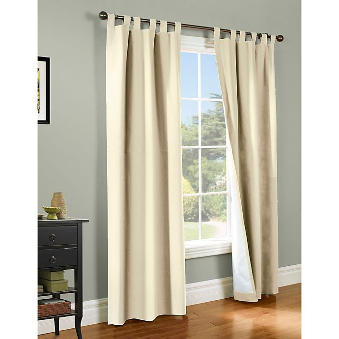 Alternate image 1 for Thermalogic® Weathermate 54-Inch Tab Top Window Curtain Panel Pair in Natural
