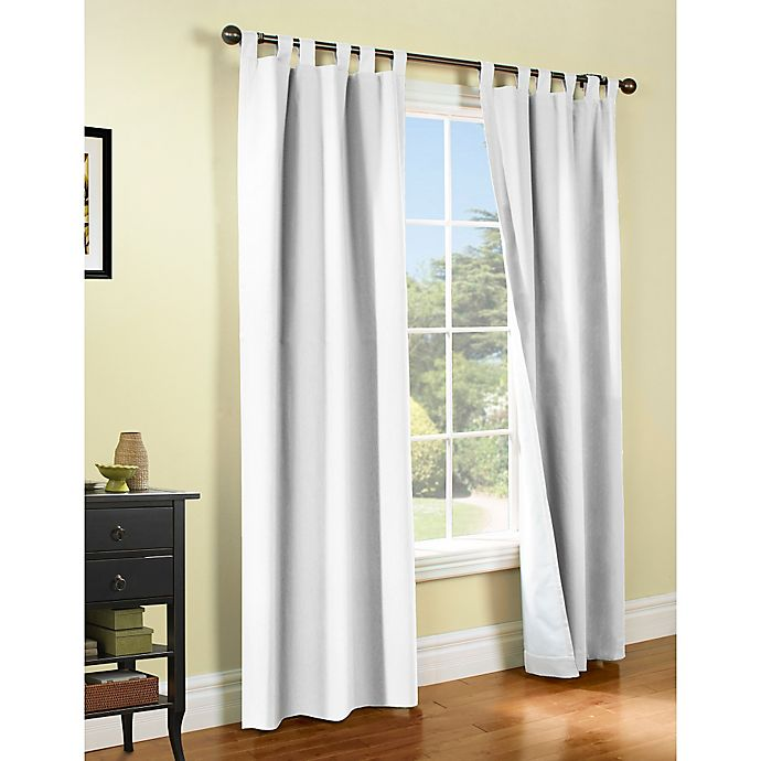 Alternate image 1 for Thermalogic® Weathermate 84-Inch Tab Window Curtain Panel Pair in White