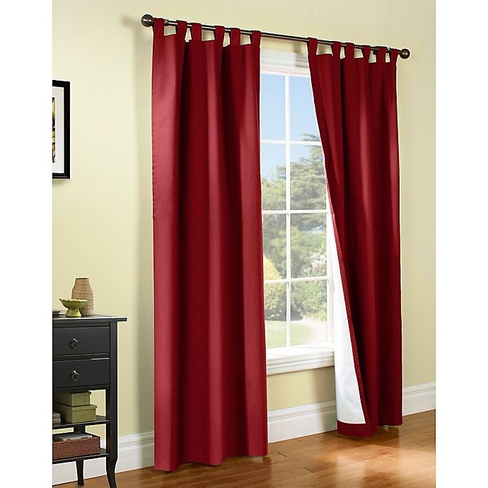 Alternate image 1 for Thermalogic® Weathermate 54-Inch Tab Top Window Curtain Panel Pair in Burgundy