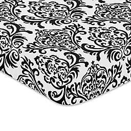 Sweet Jojo Designs Isabella Fitted Crib Sheet in Black/White