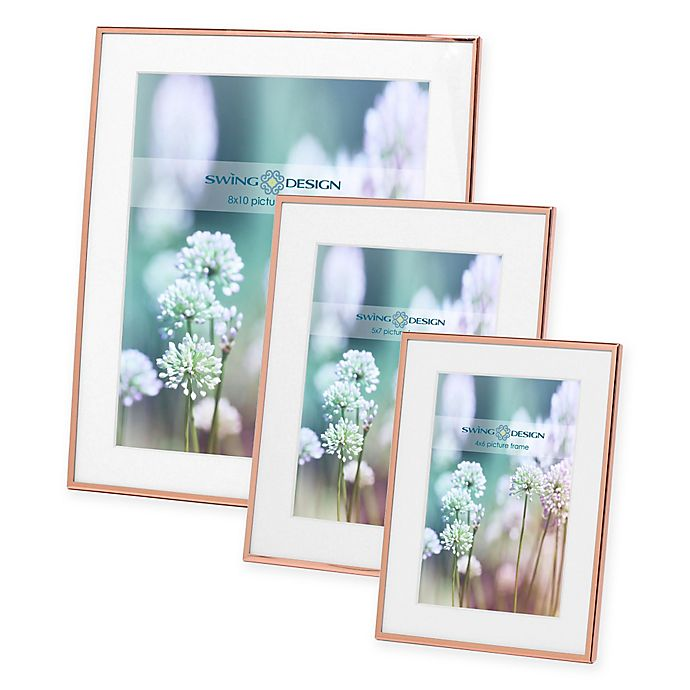Alternate image 1 for Swing Design Essex Metal Picture Frame in Rose Gold