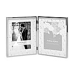 Swing Design® 2-Photo 5-Inch x 7-Inch Celia Silver Plate Wedding Frame