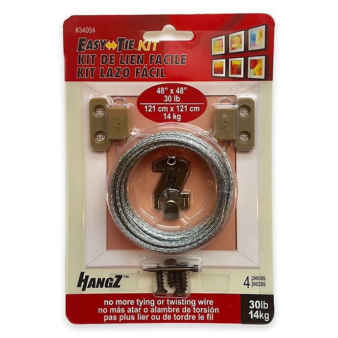 Alternate image 1 for HangZ™ 30 lb. Easy Tie 2 Hole D Ring Kit