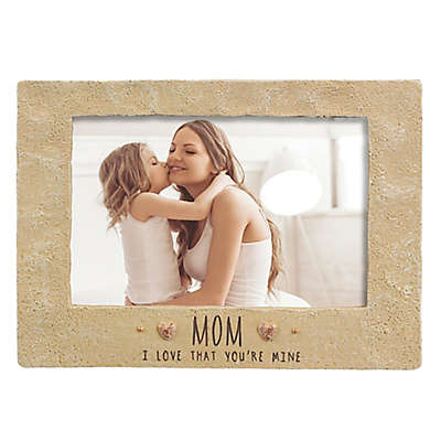 "Grasslands Road® 4-Inch x 6-Inch ""Mom"" Cement Picture Frame"