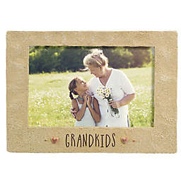 Grasslands Road™ 4-Inch x 6-Inch Cement Grandkids Picture Frame in Beige