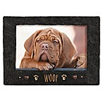 Grasslands Road® 4-Inch x 6-Inch  Woof  Cement Picture Frame in Black