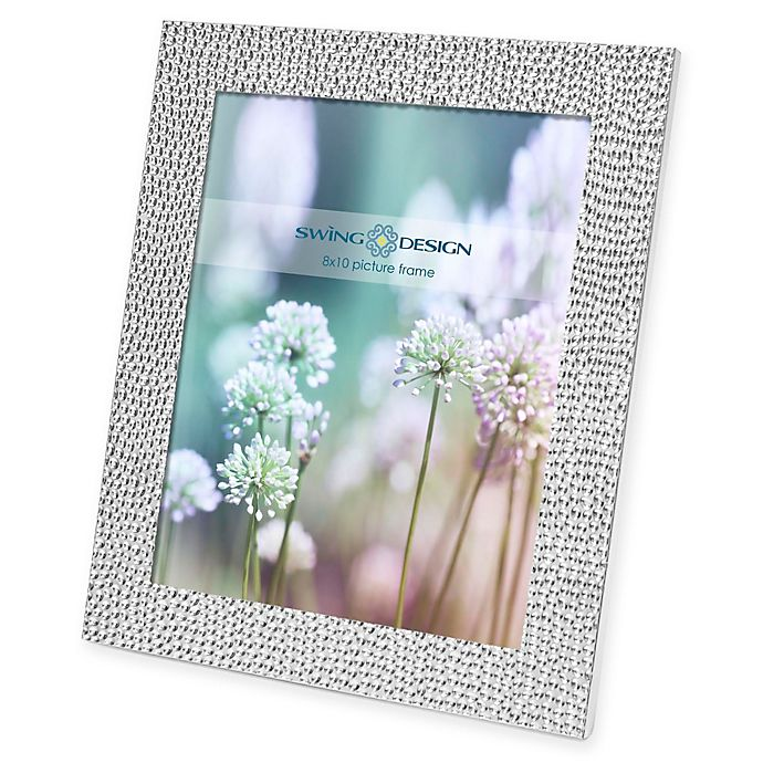 Alternate image 1 for Swing Design Shimmer 8-Inch x 10-Inch Silver Plate Picture Frame
