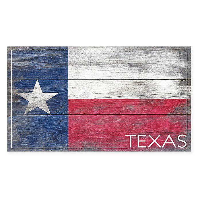 Texas Flag Wood Canvas Wall Art Bed Bath Beyond