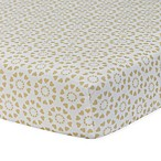 Lambs & Ivy® Dawn Fitted Crib Sheet in Gold/White