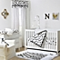 Part of the The Peanutshell™  Clouds Crib Bedding Collection Black/White