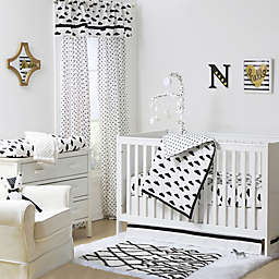 The Peanutshell™  Clouds Crib Bedding Collection Black/White