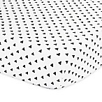 The Peanutshell™  Triangle Fitted Crib Sheet in Black/White
