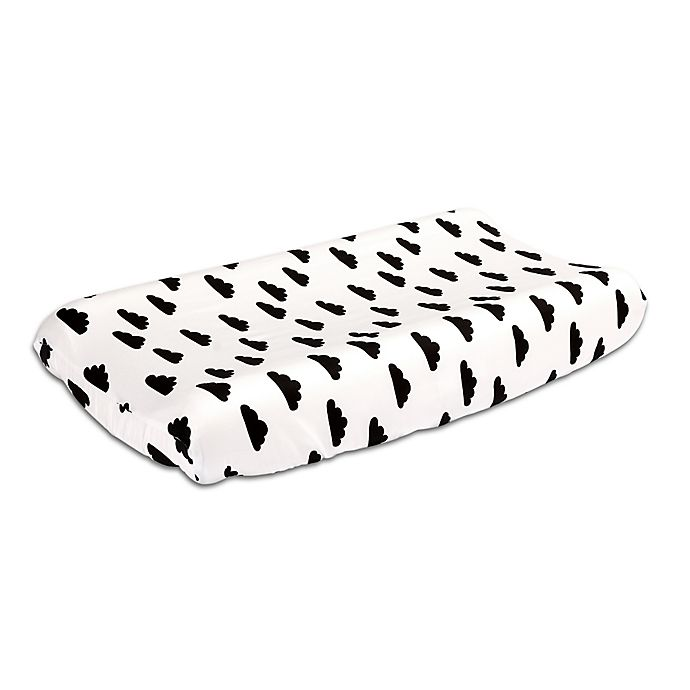 Alternate image 1 for The Peanutshell™  Clouds Changing Pad Cover in Black/White