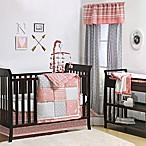 The Peanut Shell® Woodland 4-Piece Crib Bedding Set in Coral/Grey