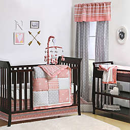 The Peanutshell™  Crib Bedding Collection in Coral/Grey