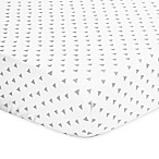The Peanutshell™  Triangle Fitted Crib Sheet in Grey