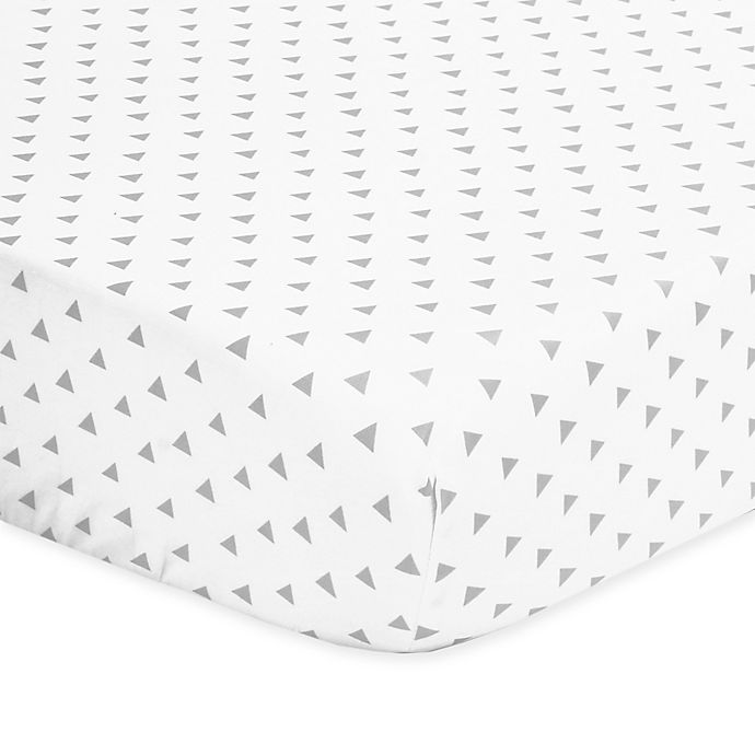 Alternate image 1 for The Peanutshell™  Triangle Fitted Crib Sheet in Grey