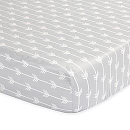 The Peanutshell™  Arrows Fitted Crib Sheet in Grey