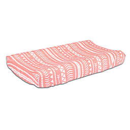 The Peanutshell™  Tribal Changing Pad Cover in Coral