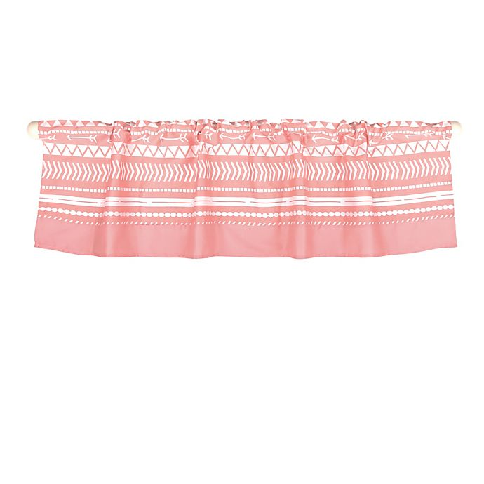 Alternate image 1 for The Peanutshell™  Tribal Window Valance in Coral