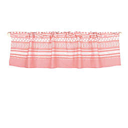 The Peanutshell™  Tribal Window Valance in Coral