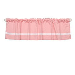 The Peanut Shell™ Solid Window Valance in Coral