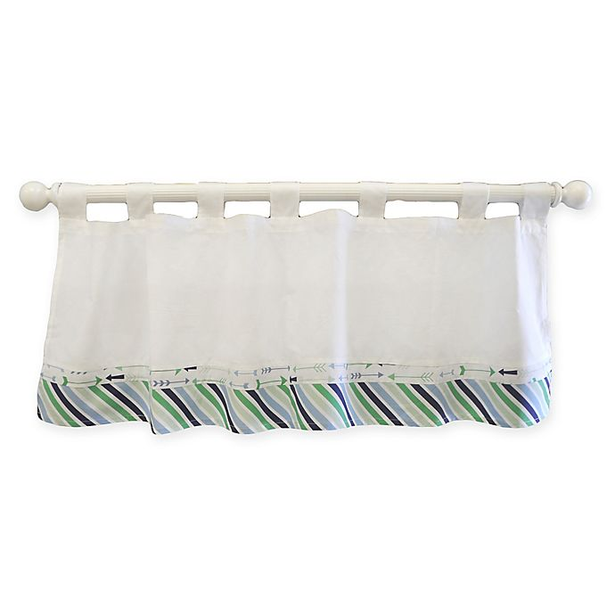 Alternate image 1 for My Baby Sam Follow Your Arrow Window Valance in Navy