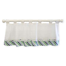 My Baby Sam Follow Your Arrow Window Valance in Navy
