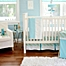 Part of the My Baby Sam Follow Your Arrow Crib Bedding Collection in Aqua