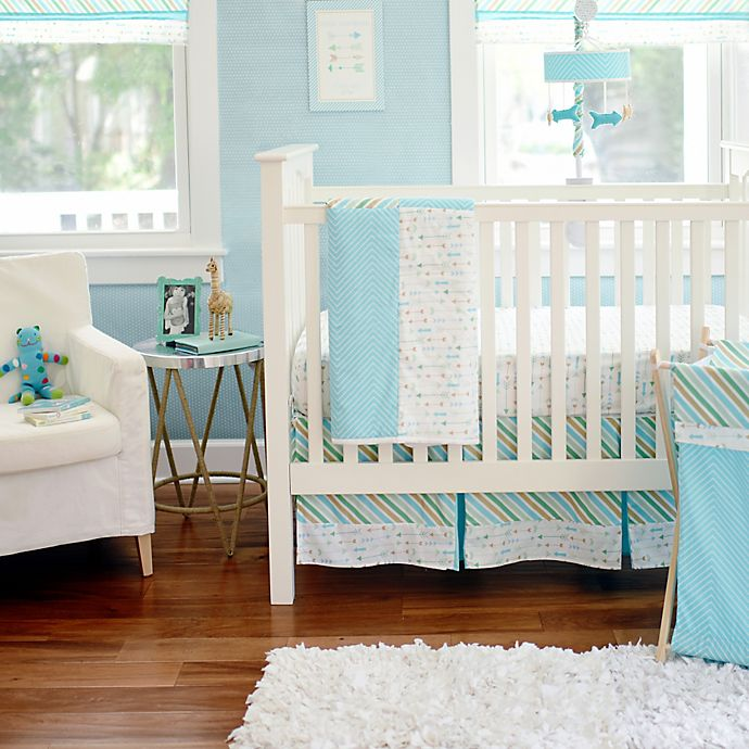 Alternate image 1 for My Baby Sam Follow Your Arrow Crib Bedding Collection in Aqua