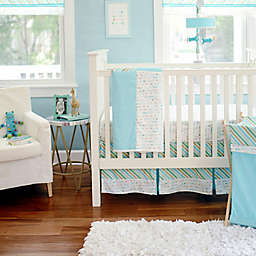 My Baby Sam Follow Your Arrow Crib Bedding Collection in Aqua