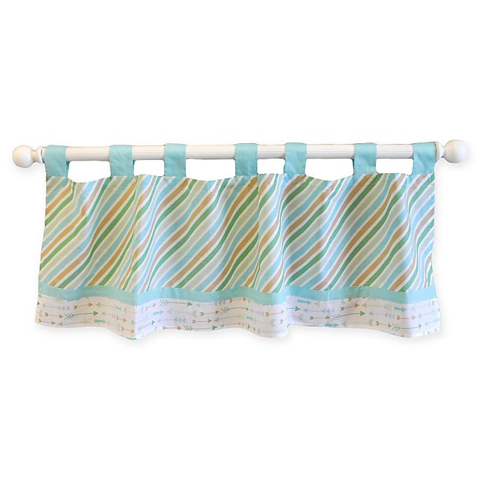 Alternate image 1 for My Baby Sam Follow Your Arrow Window Valance in Aqua