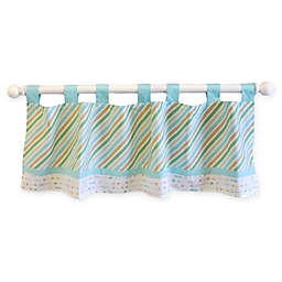 My Baby Sam Follow Your Arrow Window Valance in Aqua