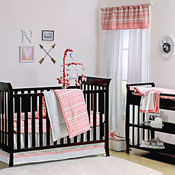 The Peanutshell™  Tribal Crib Bedding Collection in Coral